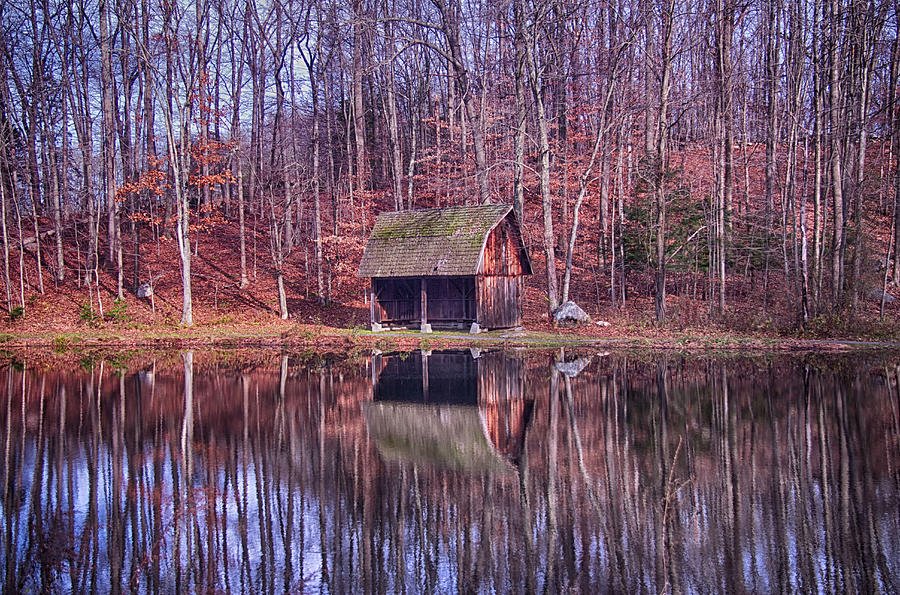 Early Winter At The Boat House Photograph  - Early Winter At The Boat House Fine Art Print