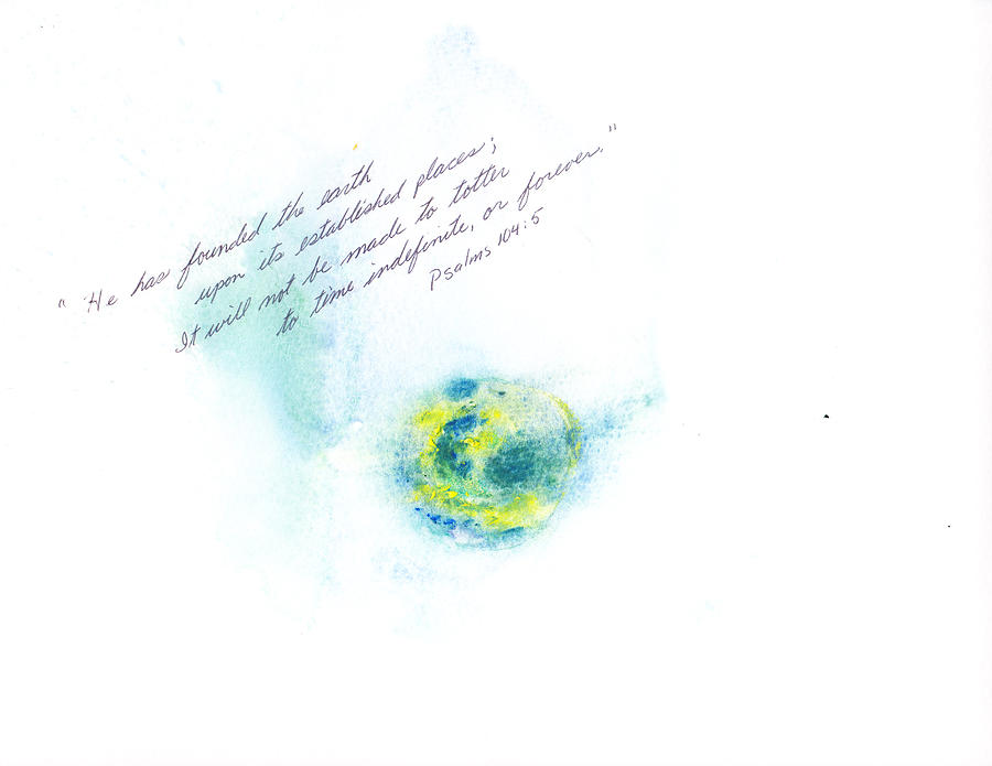 Earth Painting - Earth Forever by B L Qualls