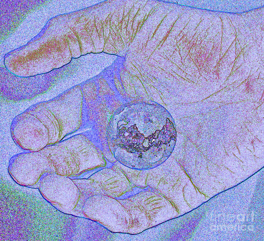 First Star Art Photograph - Earth In Hand by First Star Art