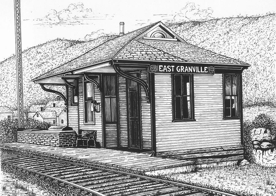 East Granville Drawing  - East Granville Fine Art Print