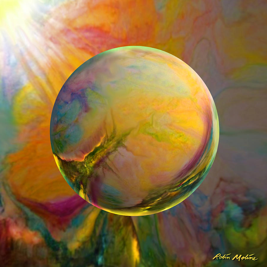 Easter Art Painting - Easter Orb by Robin Moline