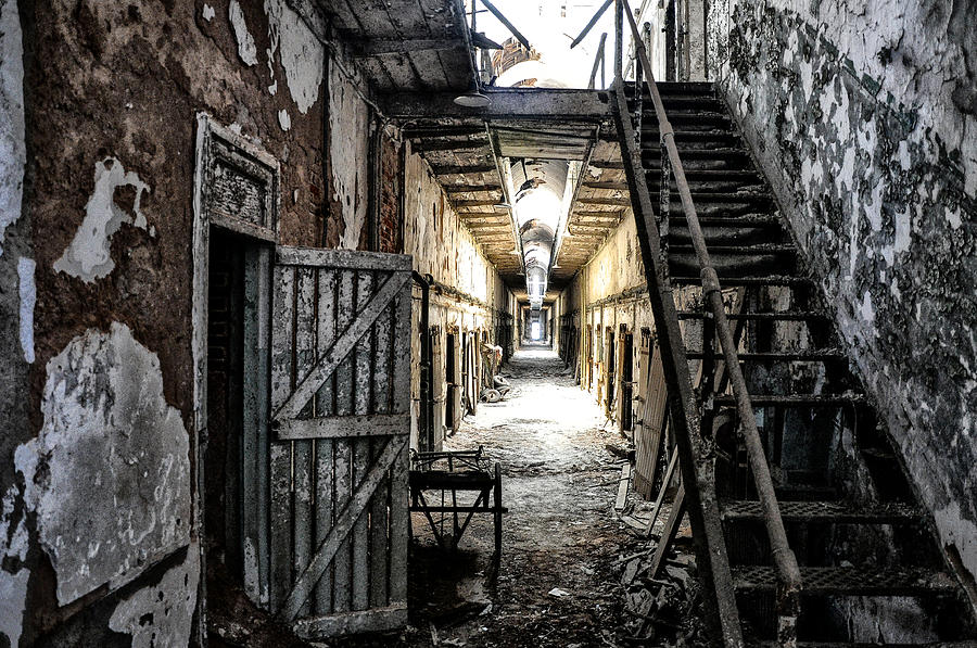 Eastern State Penitentiary In Ruins Photograph