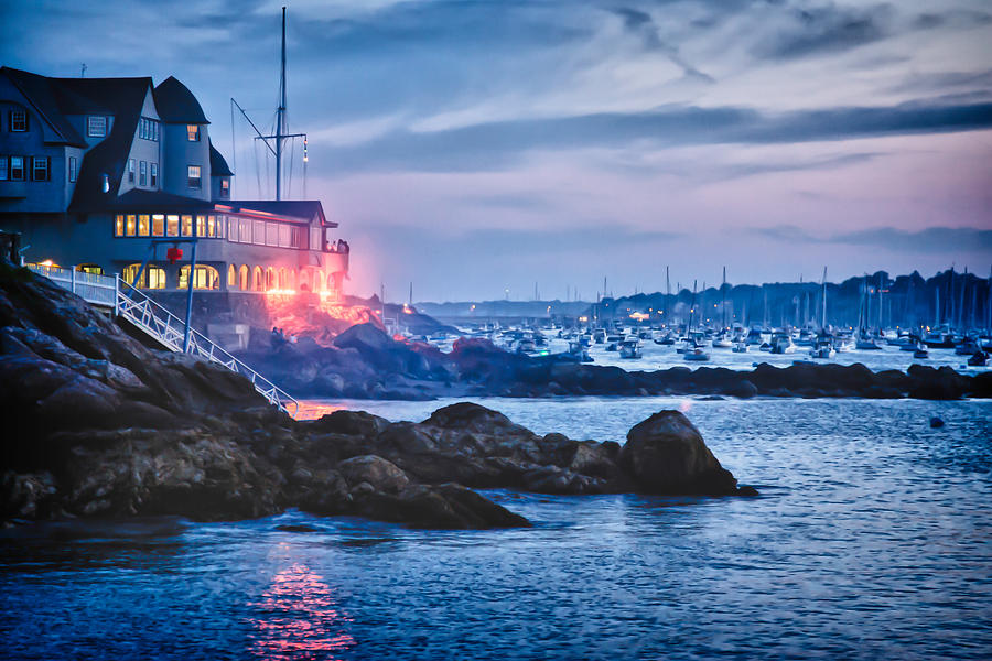 Eastern Yacht Club Starts The Marblehead Harbor Illumination Off Photograph