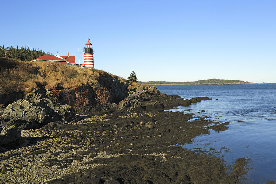 Easternmost Point In Usa West Quoddy Light Maine Photograph