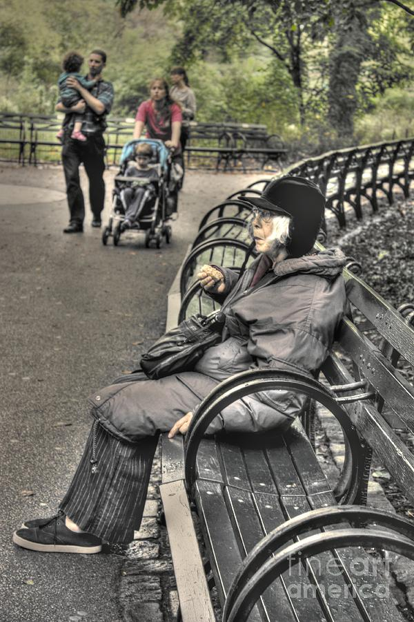 Central Park Photograph - Eating Alone In Central Park by David Bearden