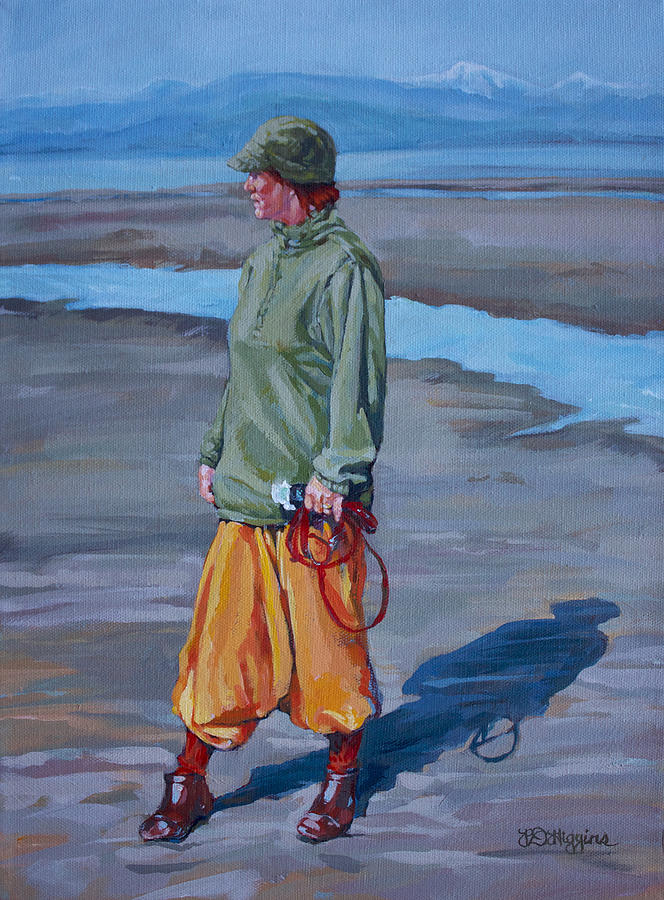 Beach Painting - Ebb Tide by Derrick Higgins
