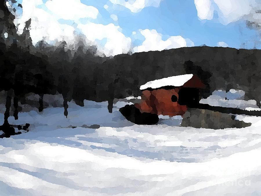 Ebenezer Bridge In Winter Digital Art