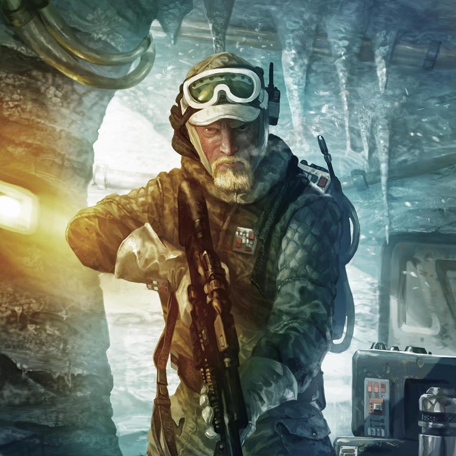 Star Wars Digital Art - Echo Base Trooper by Ryan Barger
