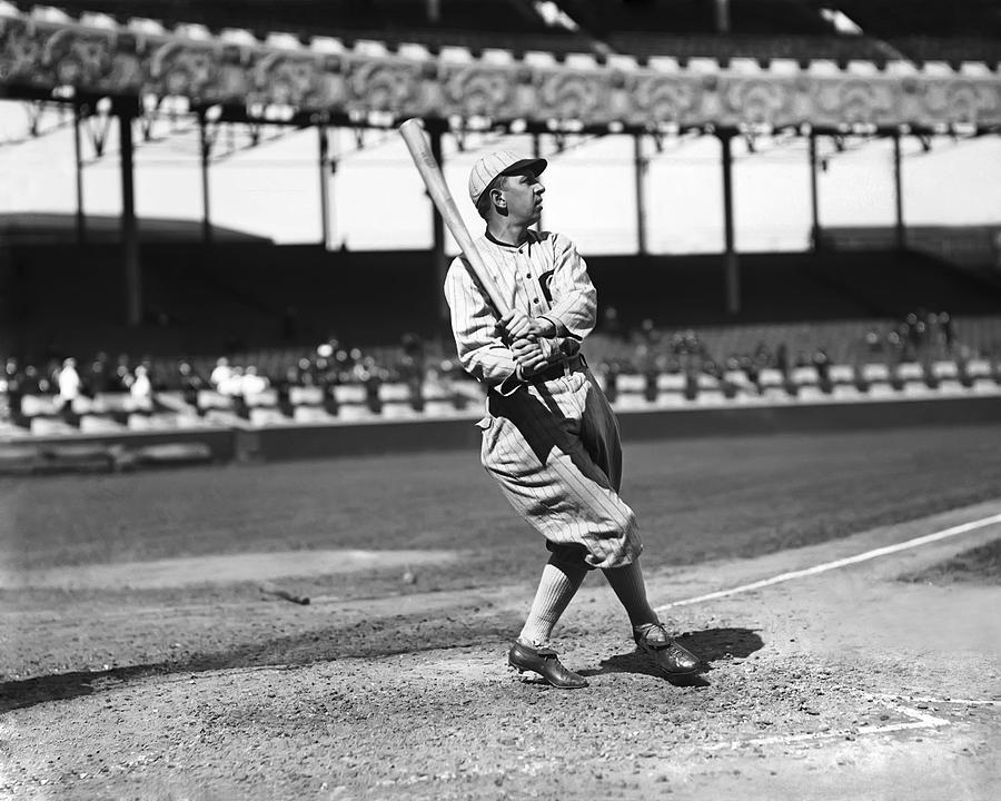Eddie Collins Sr. Swinging Photograph