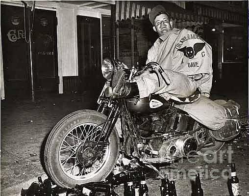 Eddie Davenport Of Tulare California On A Motorcycle