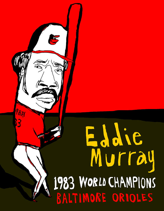 Eddie Murray Baltimore Orioles Painting  - Eddie Murray Baltimore Orioles Fine Art Print