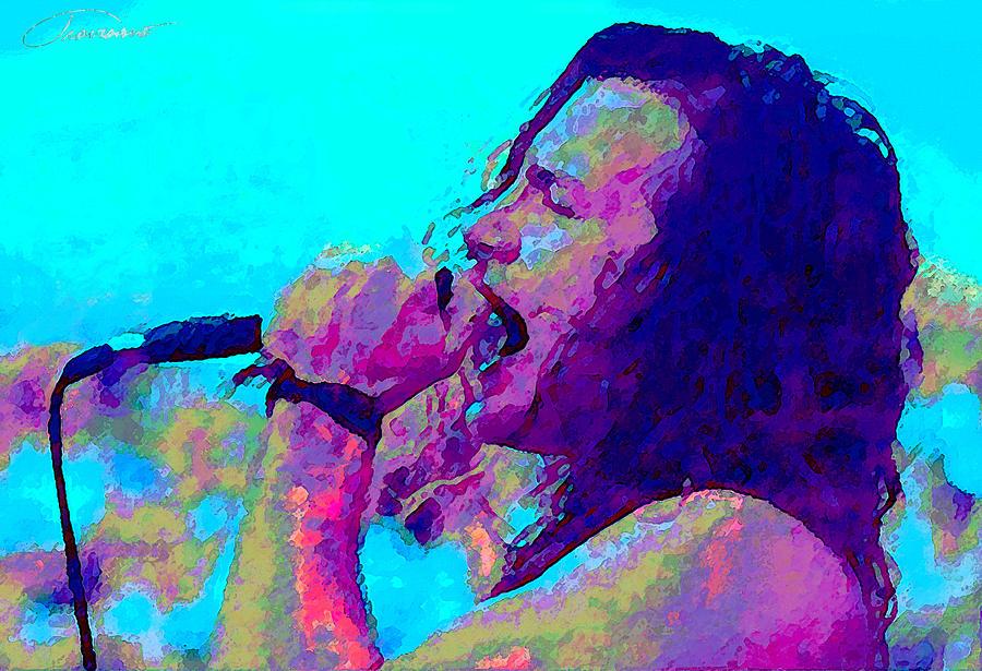 Eddie Vedder Painting - Eddie Vedder by John Travisano