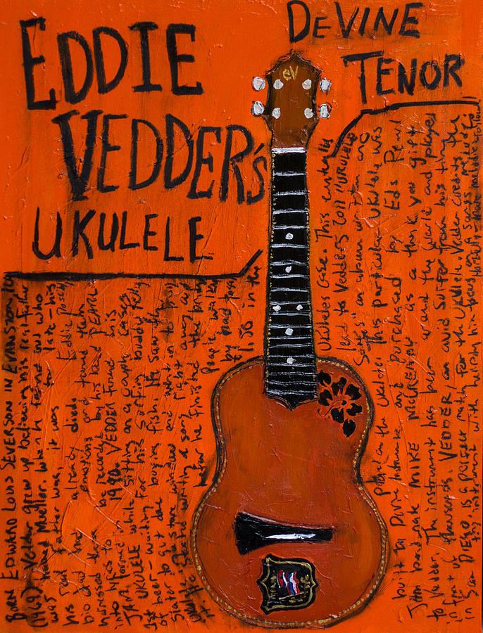Eddie Vedder Ukulele Painting