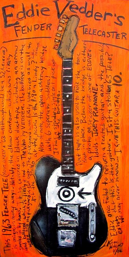 Eddie Vedders Telecaster Painting