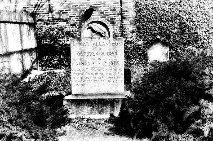 Edgar Allen Poe Grave Site Baltimore Photograph