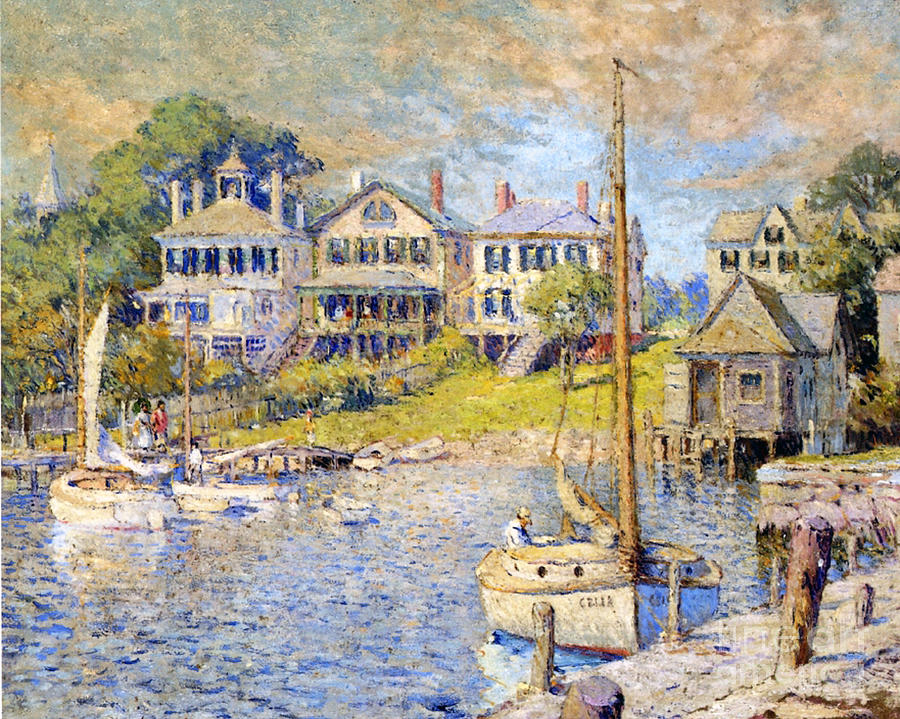 Boat Painting - Edgartown  Marthas Vineyard by Colin Campbell Cooper