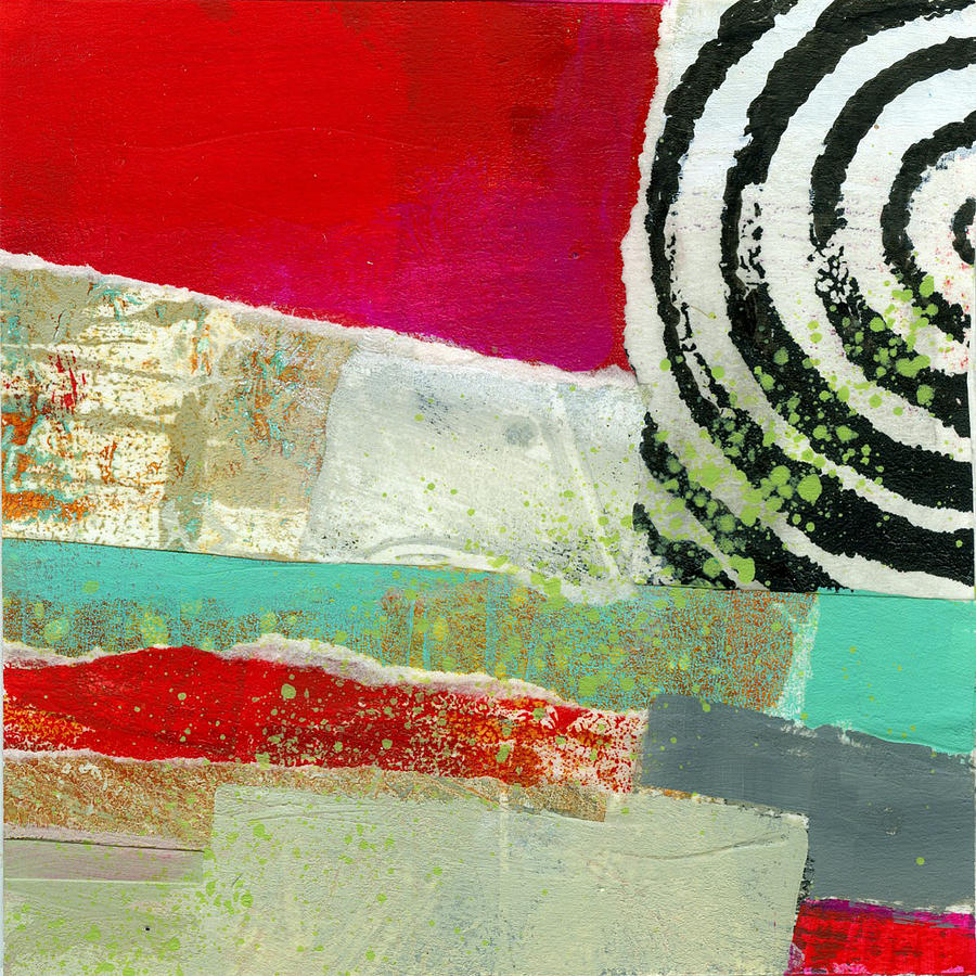 4x4 Painting - Edge 49 by Jane Davies