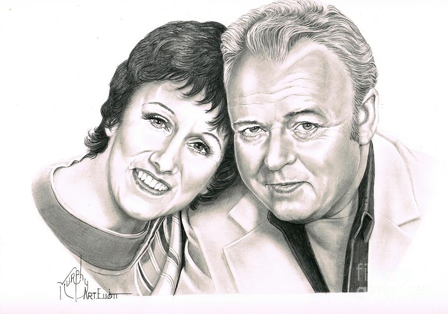 Edith And Archie Bunker Drawing