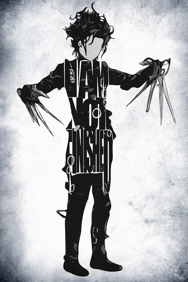 Edward Scissorhands - Johnny Depp Drawing  - Edward Scissorhands - Johnny Depp Fine Art Print