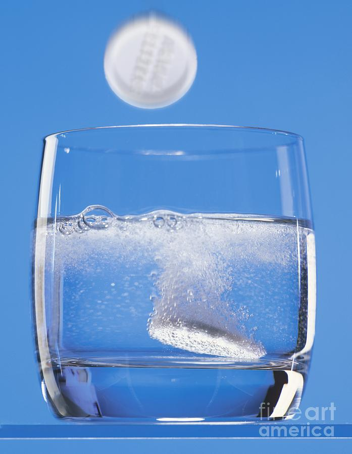 Effervescent Tablets In Water Photograph