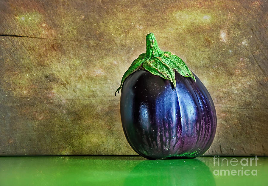 Photography Photograph - Eggplant by Kaye Menner