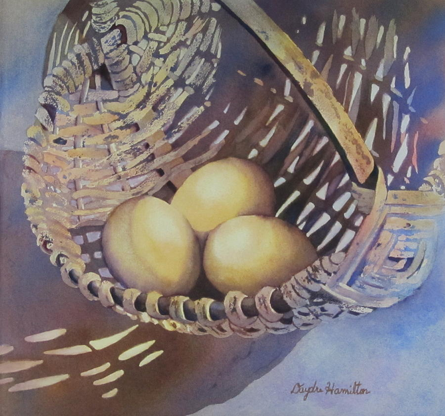Egg Painting - Eggs In A Basket II by Daydre Hamilton