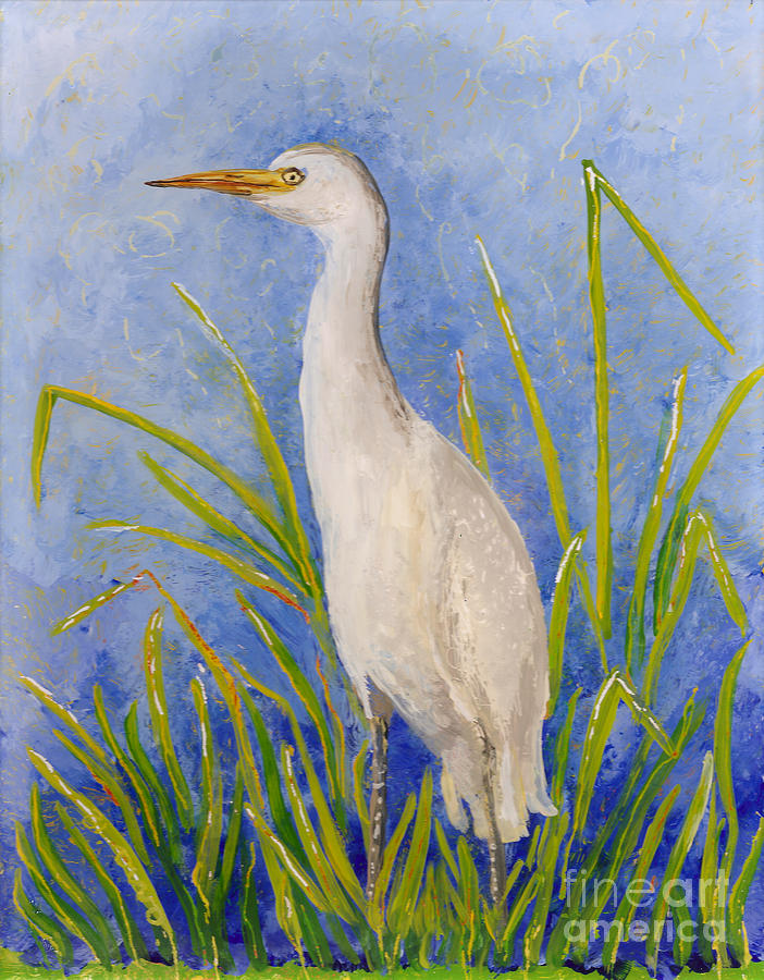 Egret Morning Painting
