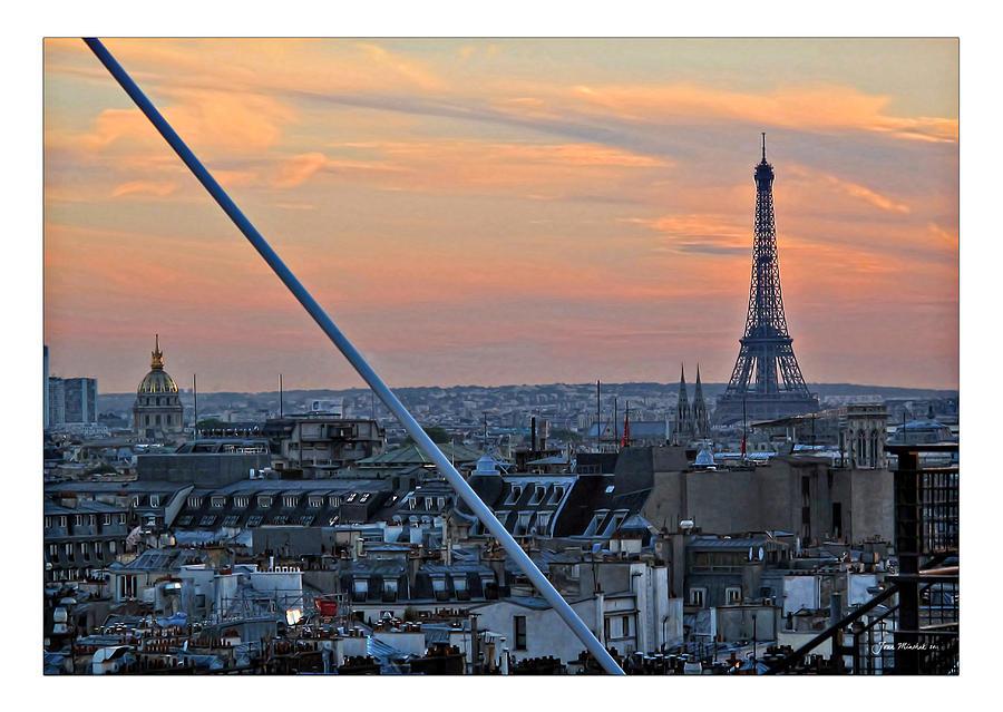 Eiffel Photograph - Eiffel Tower From Above by Joan  Minchak