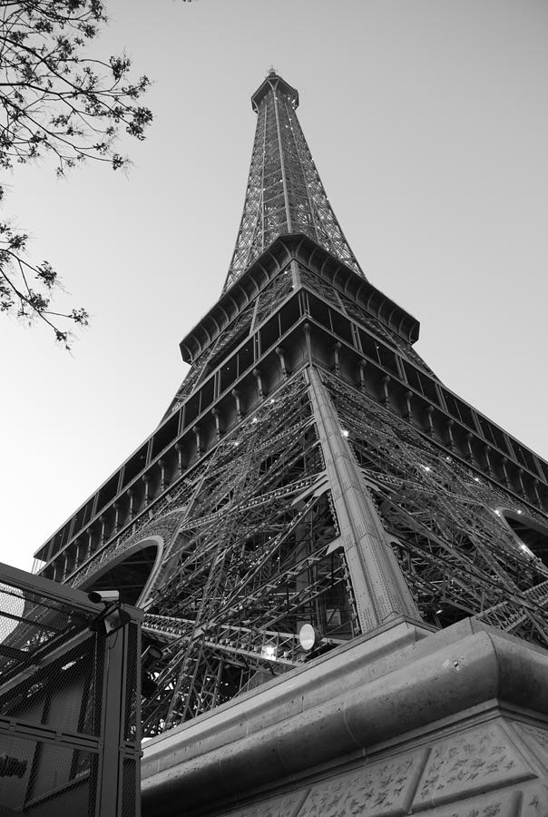 Eiffel Tower In Black And White Photograph