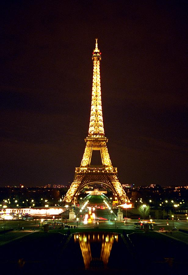 Eiffel Tower In Color Photograph