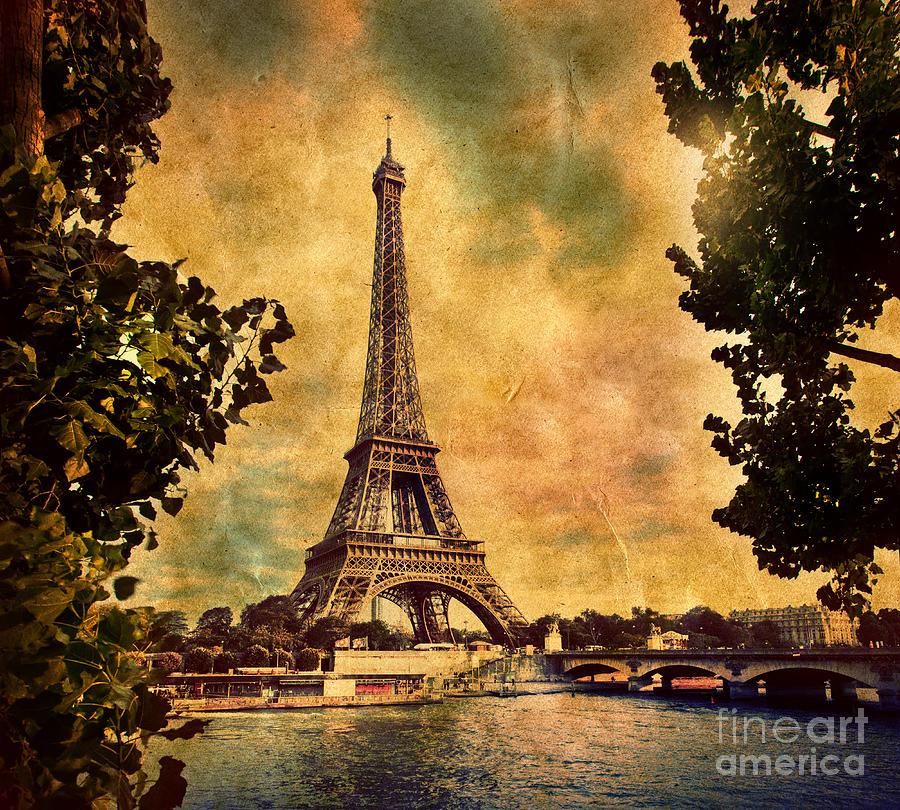 Eiffel Tower In Paris France Photograph