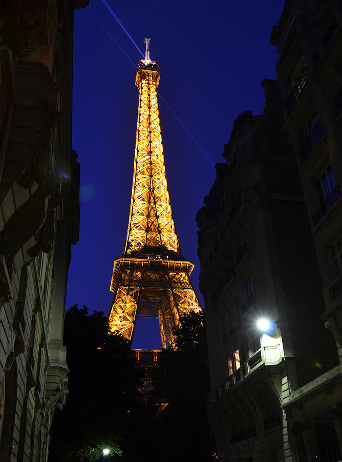 Eiffel Tower Paris France At Night Photograph