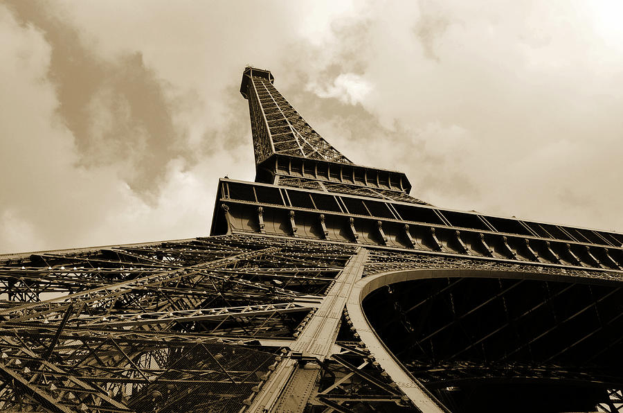 Eiffel Tower Paris France Black And White Photograph
