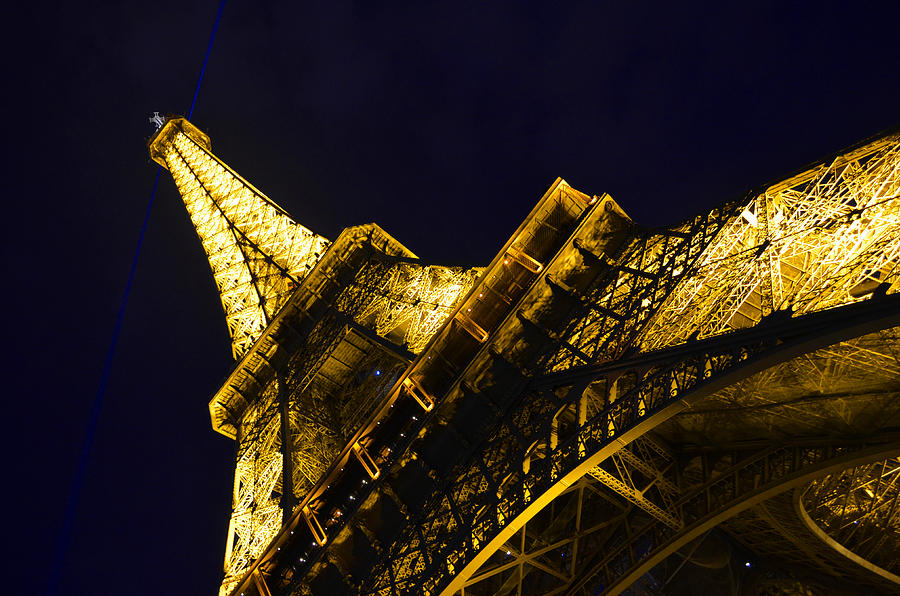 Eiffel Tower Paris France Side Photograph  - Eiffel Tower Paris France Side Fine Art Print