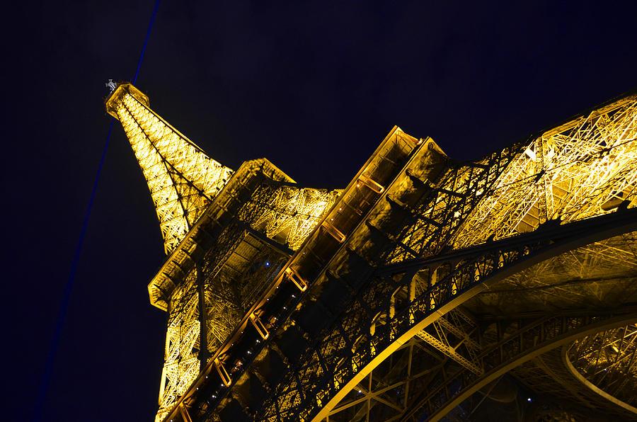 Eiffel Tower Paris France Side Photograph