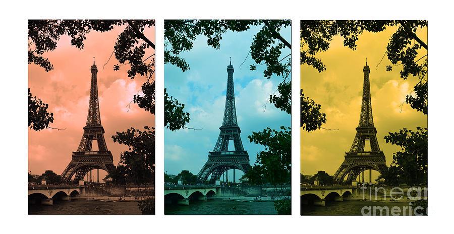 Eiffel Tower Paris France Trio Photograph