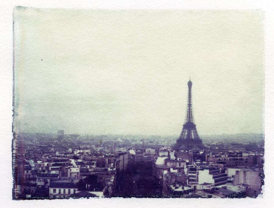 Eiffel Tower Paris Polaroid Transfer Photograph