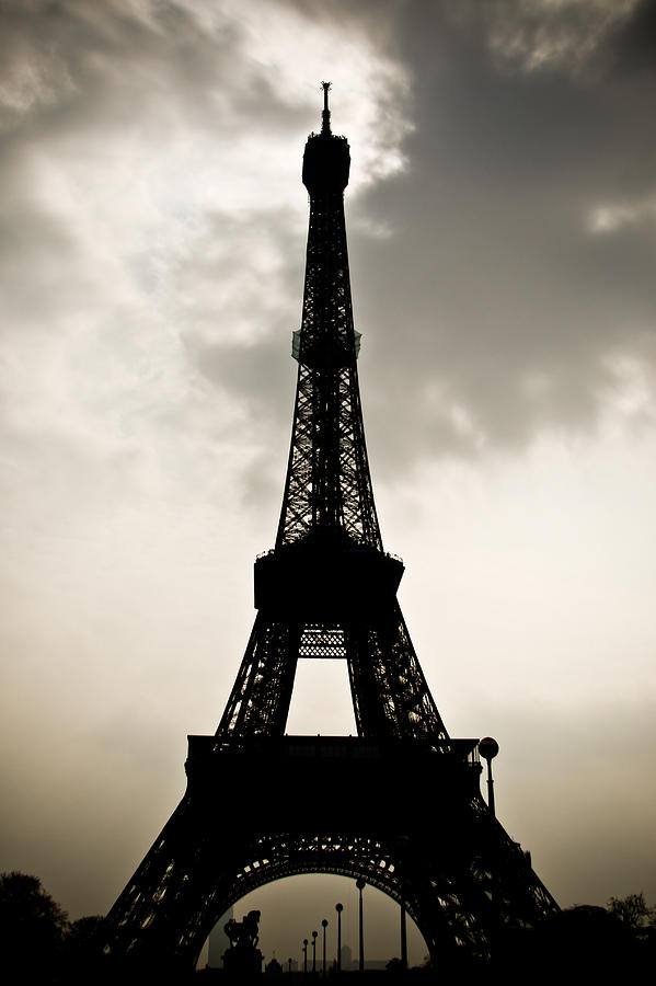 Eiffel Tower Silhouette Photograph