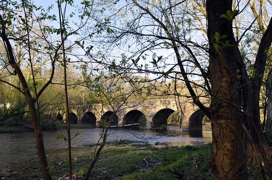 Eight Arch Bridge In Spring Photograph