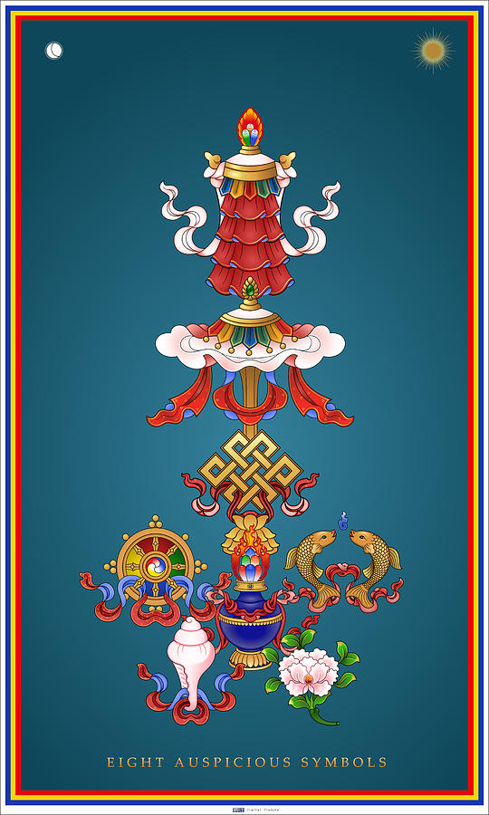 Similiar Tibetan 8 Auspicious Symbols Keywords