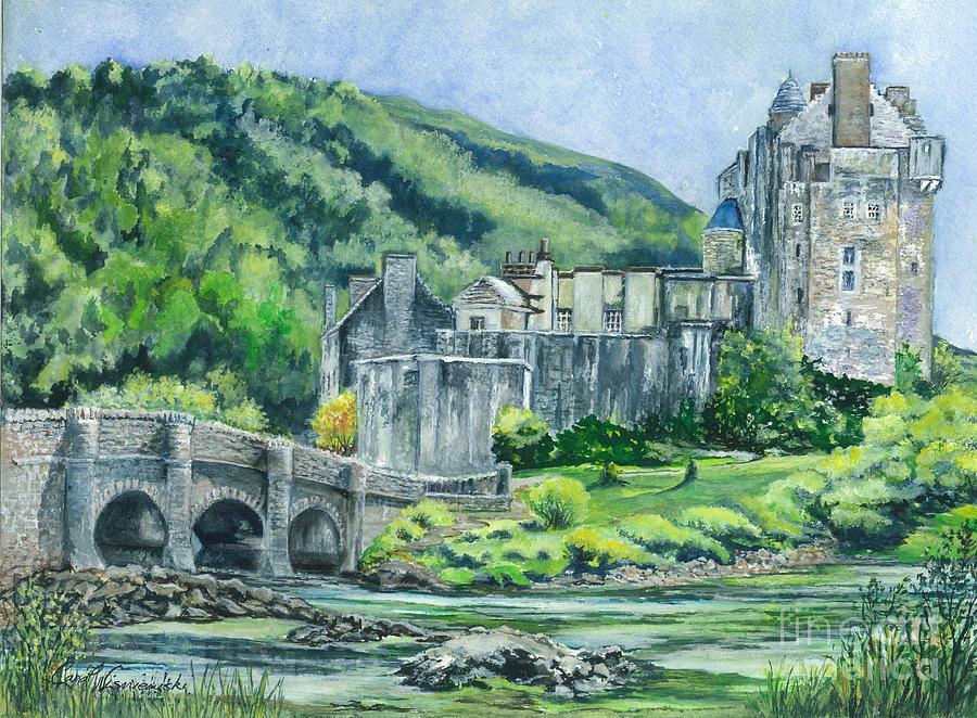 Eilean Donan Castle In Scotland II Painting