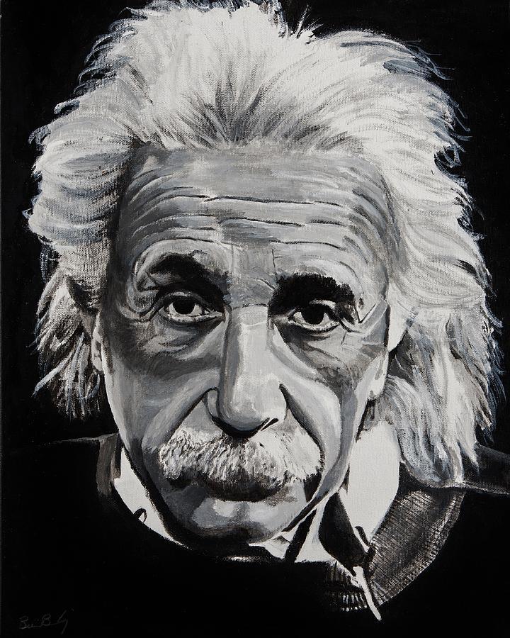 Einstein Painting By Brian Broadway