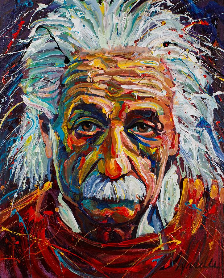 Einstein Painting By Michael Wardle