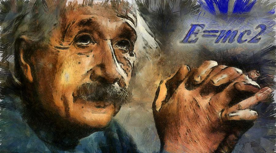 Einsteins Revelation Painting