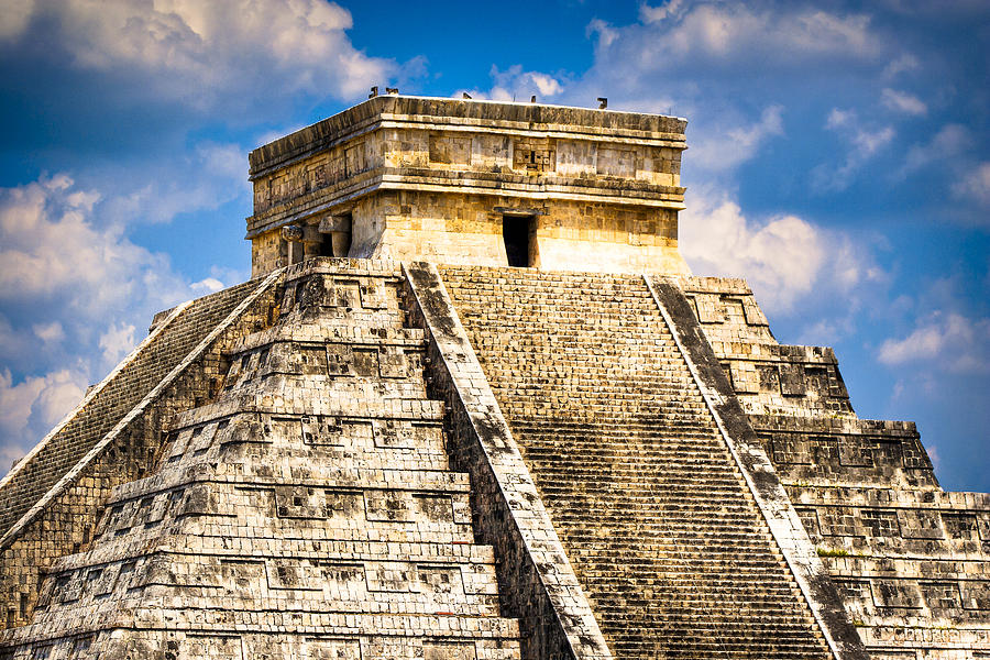 El Castillo - Pyramid At Chichen Itza Photograph  - El Castillo - Pyramid At Chichen Itza Fine Art Print