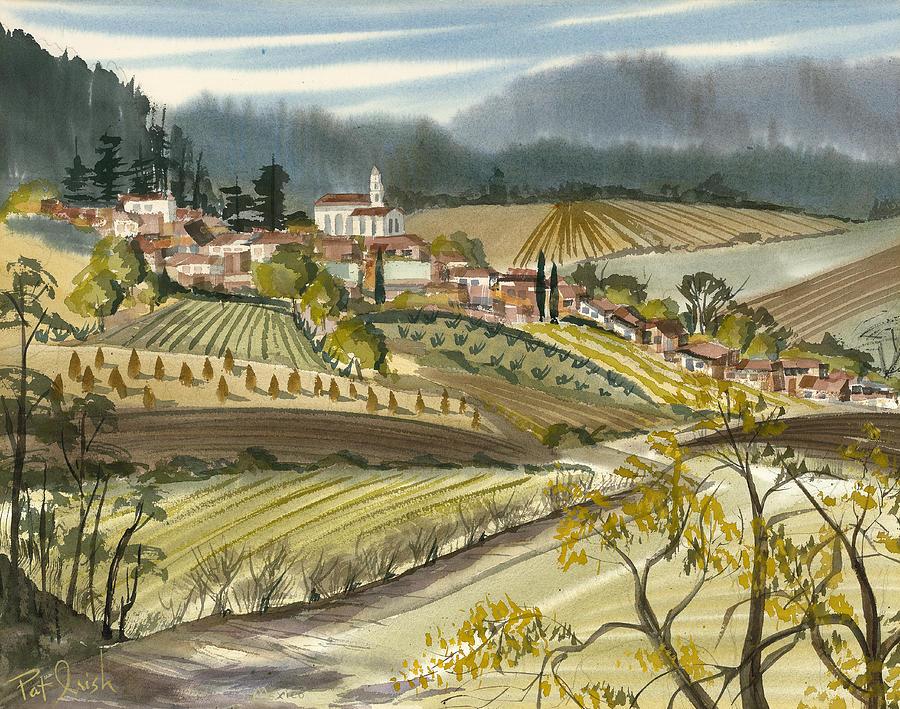 El Pueblo En El Campo Painting