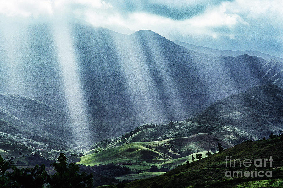 El Yunque And Sun Rays Photograph  - El Yunque And Sun Rays Fine Art Print