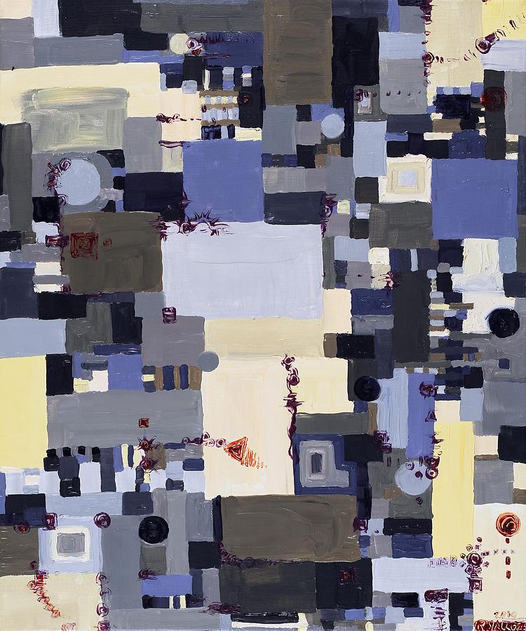 Grid Painting - Elastic Dialog by Regina Valluzzi