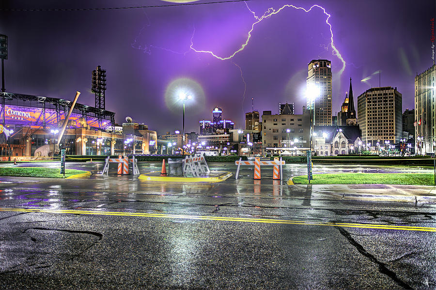Electric Detroit  Photograph  - Electric Detroit  Fine Art Print