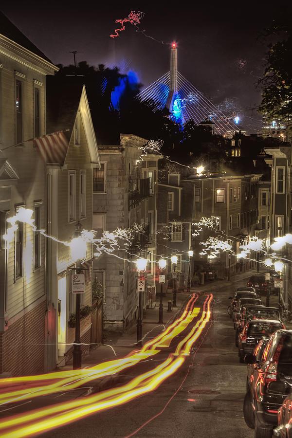 Charlestown Photograph - Electrified Boston by Joann Vitali